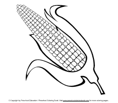 corn colouring pages free printable thanksgiving