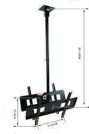 aliexpress com buy 30 65 inch dual screen led lcd tv ceiling