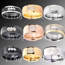 batman wedding band 8mm tungsten batman wedding band ring size n z 1 2 batman