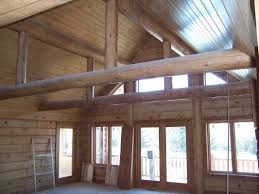 Painting Interior Log Cabin Walls by Finishes Summers Painting Inc