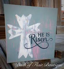 new to dashofflair on etsy he is risen sign free shipping