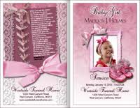 baby funeral program baby funeral programs for infant and toddler baby available