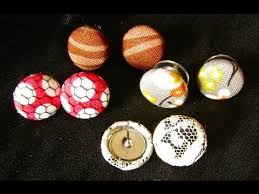 diy button earrings diy button fabric earrings tutorial