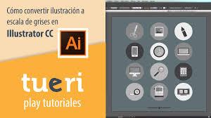 imagen blanco y negro en illustrator cómo convertir ilustración a escala de grises en illustrator cc