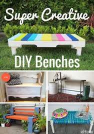 Creative Benches How To Make A Simple Outdoor Bench Reuse And Bench