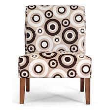 Legs For Armchairs Davis Accent Chair Brown Wood Legs Circle Prints Set Of 2