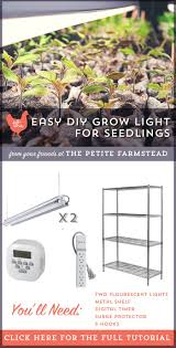 how to build an easy diy grow light for seedlings diy projects