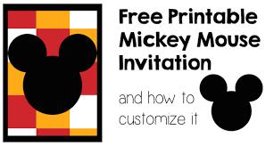 mickey mouse invitation customize paper trail design