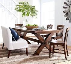 pottery barn dining room tables pottery barn dining room table kitchen by tables log crate reviews