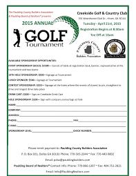 Golf Tournament Sign Up Sheet Template Sponsorship Registration Form Template
