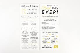 what goes on wedding programs 10 wedding programs your guests will want to keep