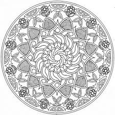 mandala with flower ornament coloring page free printable