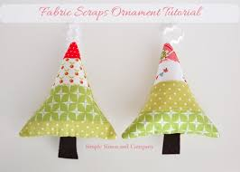 fabric scraps ornaments so sew easy