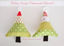 fabric scraps ornaments so sew easy