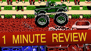 bigfoot monster truck game nes bigfoot monster truck rally 1 minute review youtube