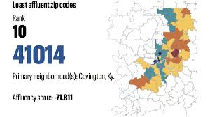 Wichita Zip Code Map Cincinnati U0027s Wealthiest And Least Wealthy Zip Codes Countdown
