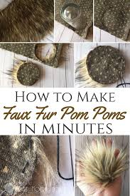 How To Make A Faux Fur Rug How To Make Faux Fur Pom Poms Faux Fur Pom Pom Fur Pom Pom And