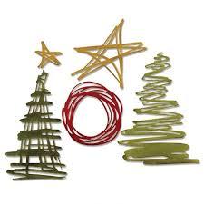 sizzix thinlits die set 5pk festive scribbles