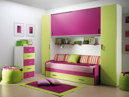 lovely children bedroom furniture with green pink theme furniture