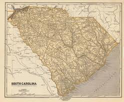 State Map Of South Carolina by 1845 Map Of South Carolina American