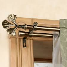 decorating double curtain rod brackets for interior home decor