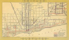 The Loop Chicago Map by Chicago Rapid Transit Company Wikipedia
