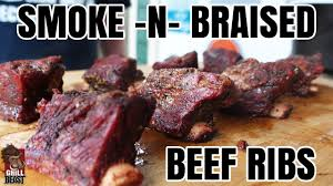 smoke n braised beef ribs grill beast youtube