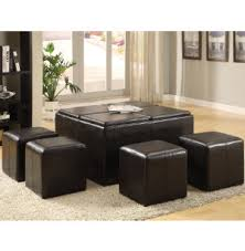 art van coffee tables cocktail ottoman with 4 cubes living room tables living rooms