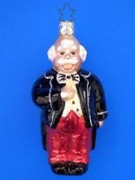inge glas opera singer man german blown glass christmas ornament