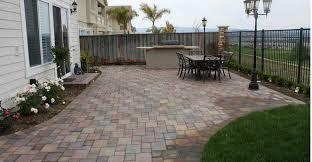 attractive concrete patio pavers residence decor ideas adding on