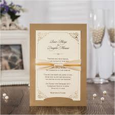 wedding invitations with ribbon 2017 new wedding invitations with ribbon bowknot laser cut