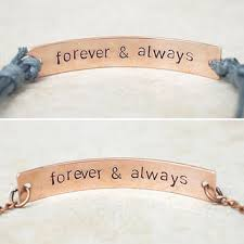 his and hers engraved bracelets shop forever and always bracelets on wanelo