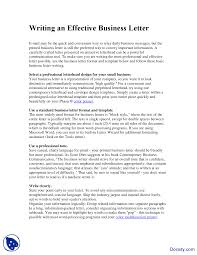 Professional Business Letter Format by Writing An Effective Business Letter Business Communication