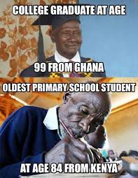 Old Language Meme - you re never too old to learn bino and fino african culture