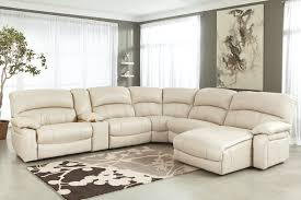 Leather Sectional Living Room Furniture Living Room Design Comfy White Leather Sectional For Small Spaces