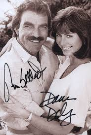 magnum pi year magnum p i tv cast photograph signed with cosigners