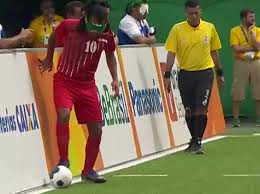 Paralympics Blind Football Paralympics 2016 Behzad Zadaliasghar Scores Amazing Goal For Iran