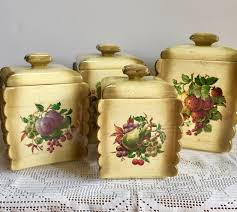 vintage kitchen canisters arnels ceramic kitchen canister set of