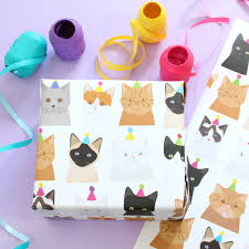 cat wrapping paper by alstead design