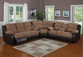 Microfiber Reclining Sofa Mocha Brown Microfiber Reclining Sectional Sofa Catosfera Net