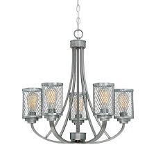 Cage Chandelier Lighting Shop Millennium Lighting Akron 25 5 In 5 Light Brushed Pewter