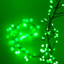 novelty lights green led garland lights green wire