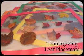 keeping up with the kiddos thanksgiving leaf placemats