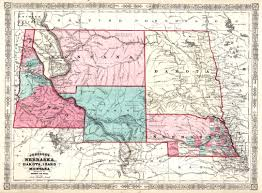 Idaho Counties Map Wyoming Places Map Of Wyoming 1865