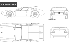 lamborghini car drawing lamborghini canto 1999 cad blocks free download