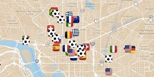 Map Dc Where To Watch The World Cup In Dc Depending On The Country You