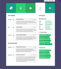Front End Developer Sample Resume by 12 Super Creative Interactive Online Resumes Examples