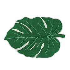 Can You Shoo An Area Rug Monstera Leaf Area Rug Playful Home Decor Colorful Accents