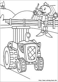 builder coloring picture