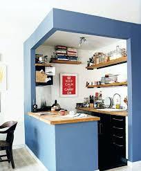 amenagement cuisine studio bar cuisine studio amenagement cuisine murs bleus et bar de